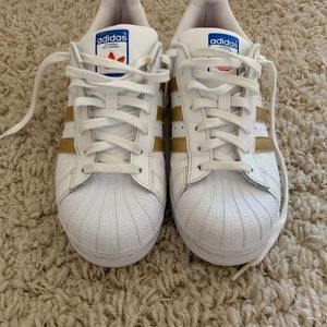 Adidas superstar shoes - gold
